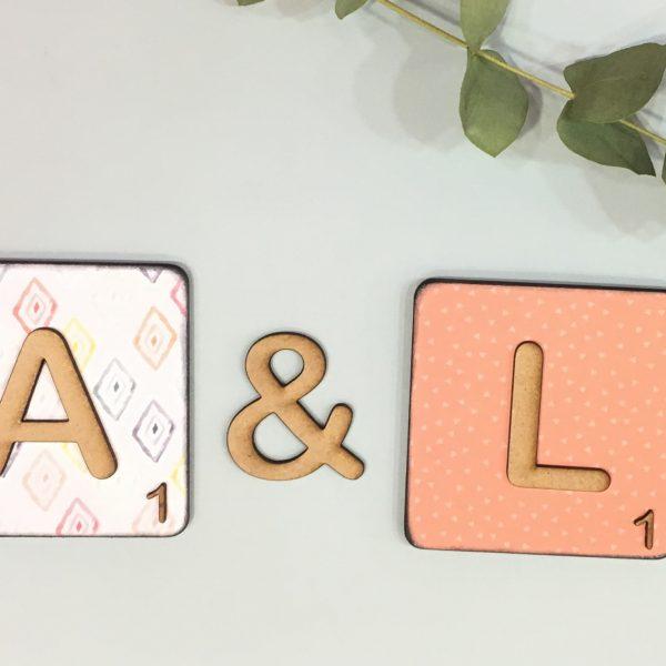 letras scrabble decoradas