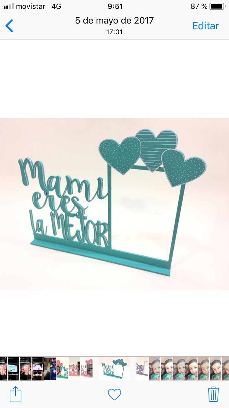 Regalo para el día de la madre : Marco Mami eres la mejor pintado ...