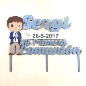 topper comunion personalizado